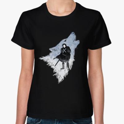 Женская футболка Игра Престолов: Джон Сноу