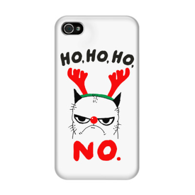 Чехол для iPhone 4/4s Happy New Year Grumpy Cat