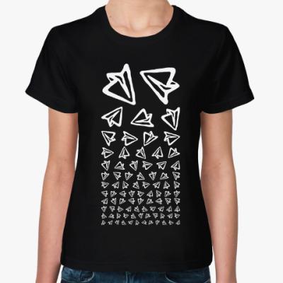 Женская футболка Telegram