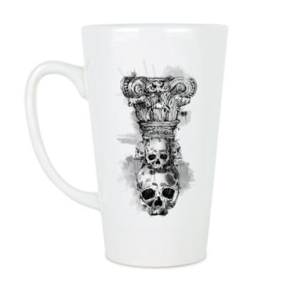 Чашка Латте Череп-колонна