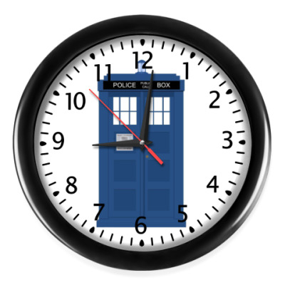 Настенные часы Доктор Кто: ТАРДИС