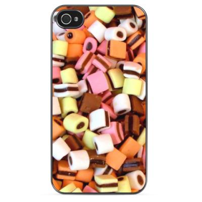 Чехол для iPhone Полосатые конфетки