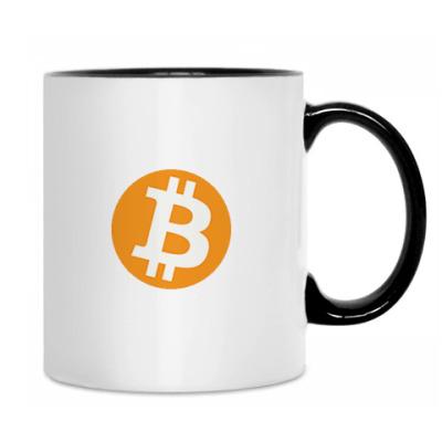 Кружка Bitcoin бел/чёрн
