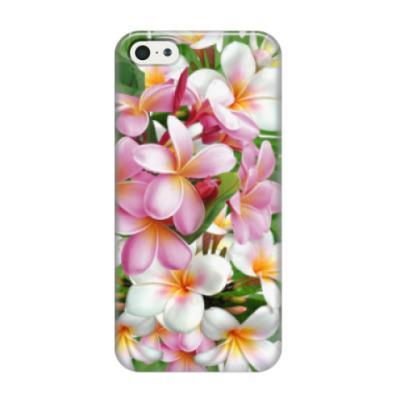 Чехол для iPhone 5/5s Тропические цветы