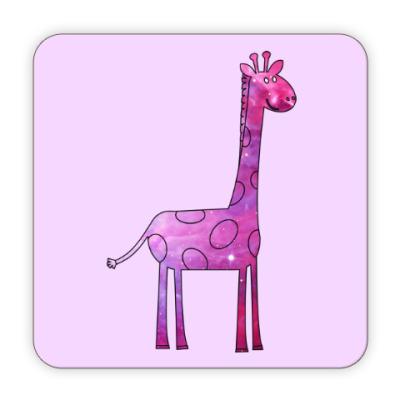 Костер (подставка под кружку) Космический Жираф