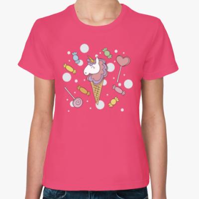 Женская футболка IceCream Unicorn