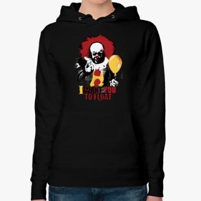 Женская толстовка худи Clown It by Stephen King