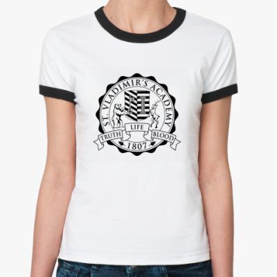 Женская футболка Ringer-T Vampire academy