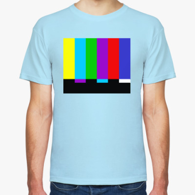 Футболка TV Test Pattern