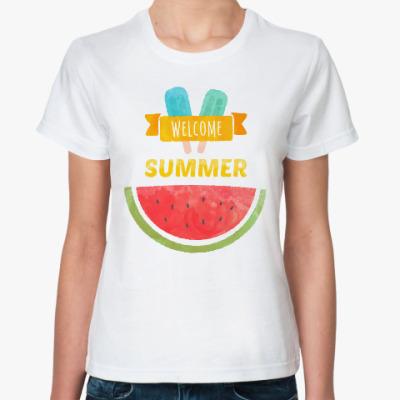 Классическая футболка Лето. Welcome Summer