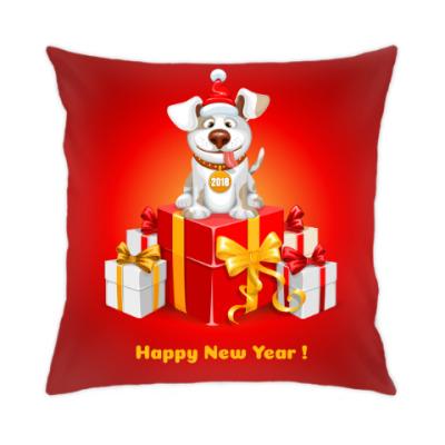 Подушка Собака символ 2018 года