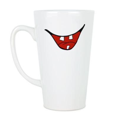 Чашка Латте Улыбка с зубами