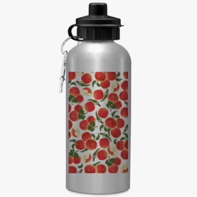 Спортивная бутылка/фляжка яблочки