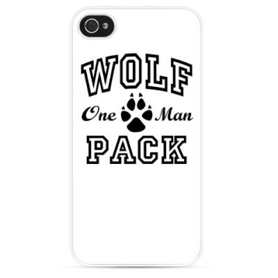 Чехол для iPhone One Man Wolfpack