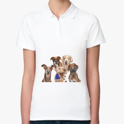 Женская рубашка поло Собаки