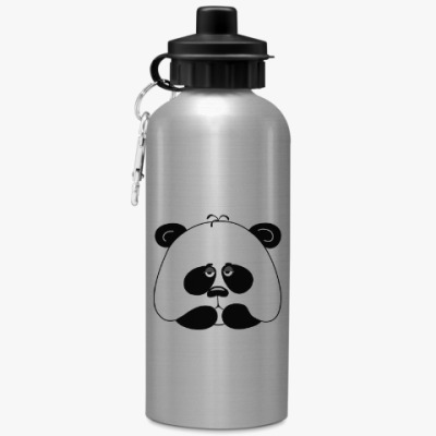 Спортивная бутылка/фляжка Грустная панда