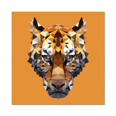 Наклейка (стикер) Тигр / Tiger