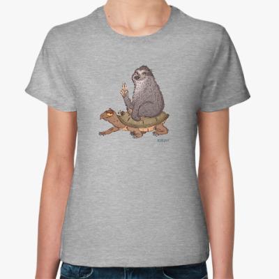 Женская футболка Погнали!