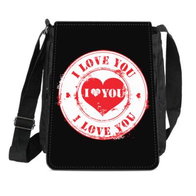 Сумка-планшет Печать I Love You