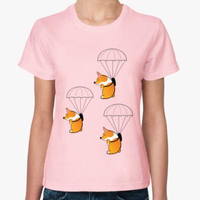 Женская футболка смешные собаки корги
