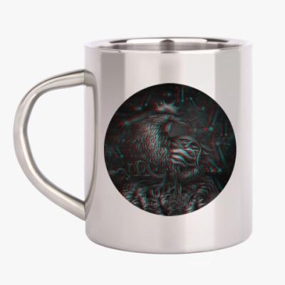 Кружка металлическая Петух 3D символ 2017 года