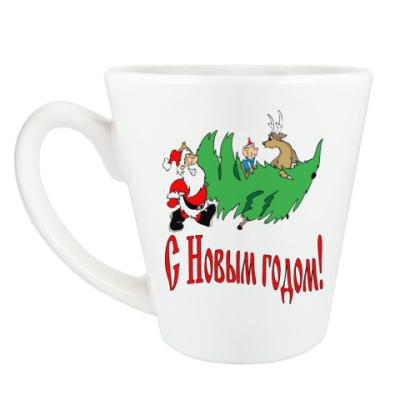 Чашка Латте С Новым Годом!