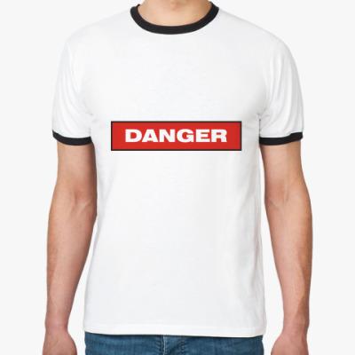Футболка Ringer-T Опасность (Danger)