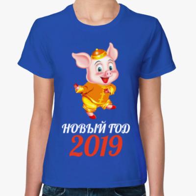 Женская футболка Новый Год 2019