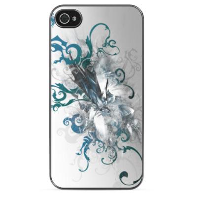 Чехол для iPhone Голубые завитки