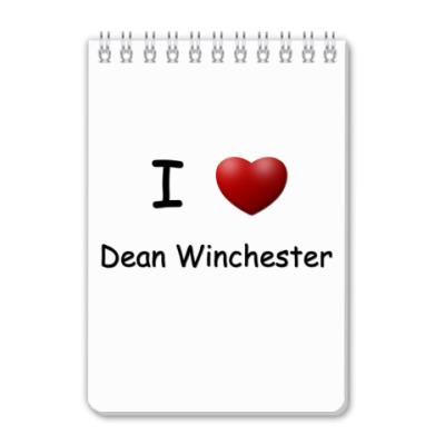 Блокнот I Love Dean