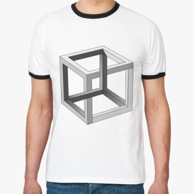 Футболка Ringer-T Невозможный Куб 3D
