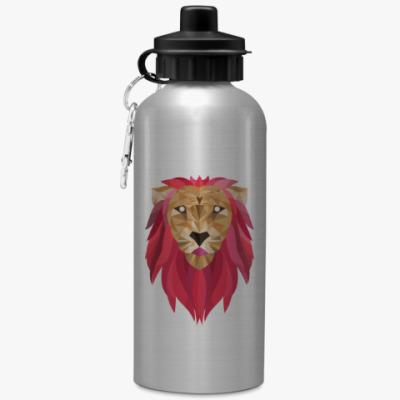 Спортивная бутылка/фляжка Лев / Lion