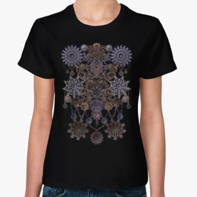 Женская футболка Ажурный узор-монисто