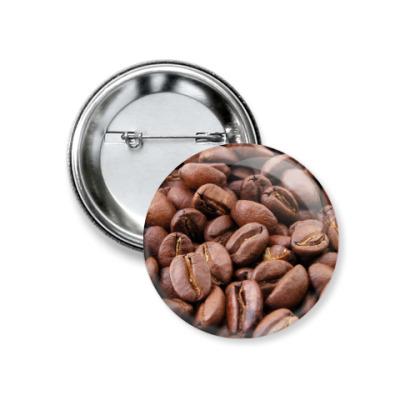 Значок 37мм Кофе