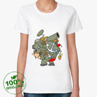 Женская футболка из органик-хлопка Защитник