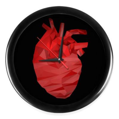 Настенные часы Сердце 3D
