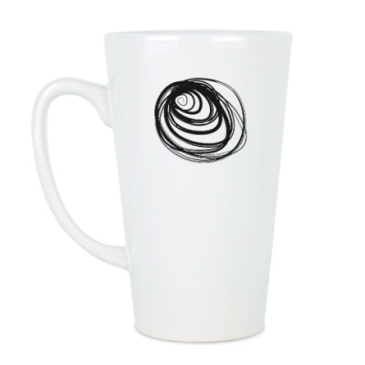 Чашка Латте Размазня черная