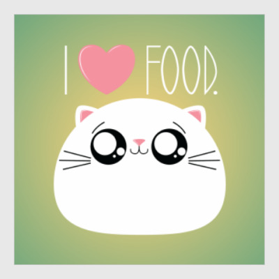 Постер Я люблю еду I love food