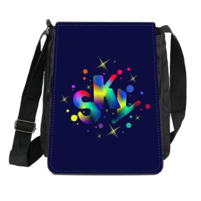 Сумка-планшет  Яркое небо