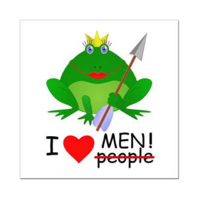 Наклейка (стикер) Царевна-лягушка