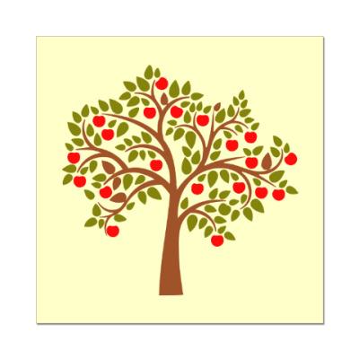 Наклейка (стикер) Яблоня