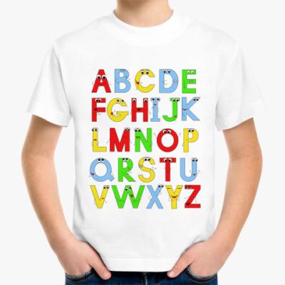 Детская футболка 'Алфавит'