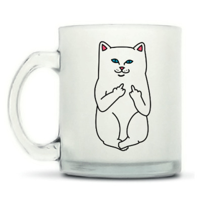 Кружка матовая Kitty with fuck