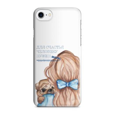 Чехол для iPhone 7/8 мопс для счастья