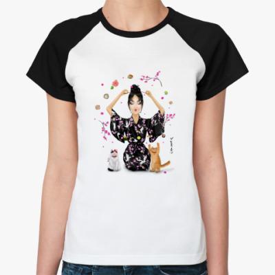 Женская футболка реглан Yaponomaniya