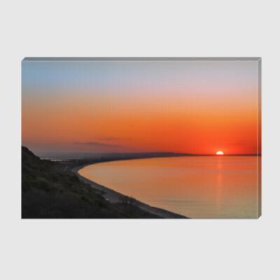 Холст Апрельские краски Азовского заката