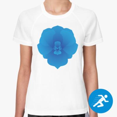 Женская спортивная футболка орхидея