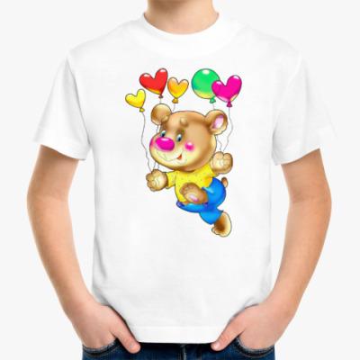 Детская футболка МЕДВЕДЬ С ШАРИКАМИ