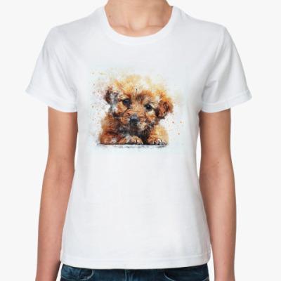 Классическая футболка Щенок