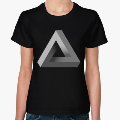 Женская футболка Невозможный Треугольник 3D